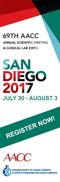 The 2017 AACC Clinical Lab Expo | San Diego July 30 - August 3